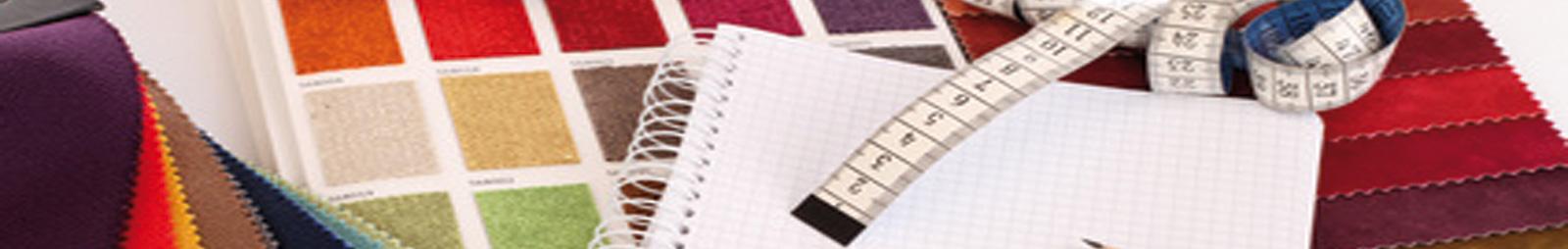 Große Auswahl an Stoffen - Tapeten - Farben